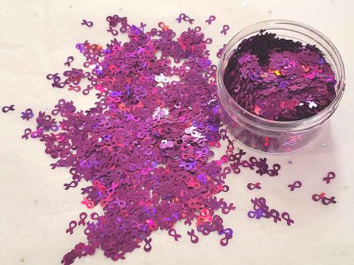 Holo Purple Awareness Ribbons, 0.5oz