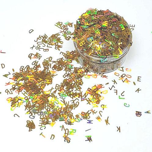 Alphabet Soup Confetti (Holo Gold), 0.5oz