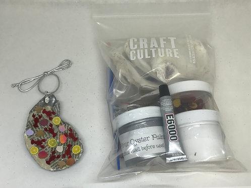 Crawfish Boil Oyster Shell Ornament Kit (Limit