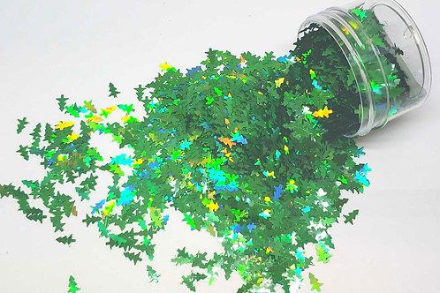 Kelly Green Christmas Trees, 0.5oz Confetti