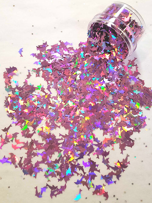 Dolphins, Holo Pink Confetti 0.5oz