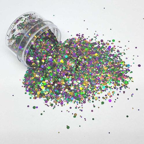 Mardi Gras Mambo Dots, 0.5oz Jar