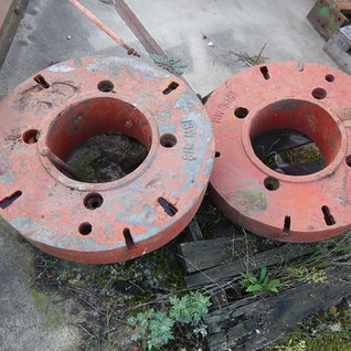 Wheel weights, coming off a 1468 Farmall.
