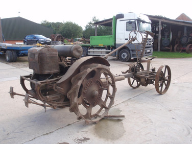 ca 1925 Agro Motor cultivator with mower