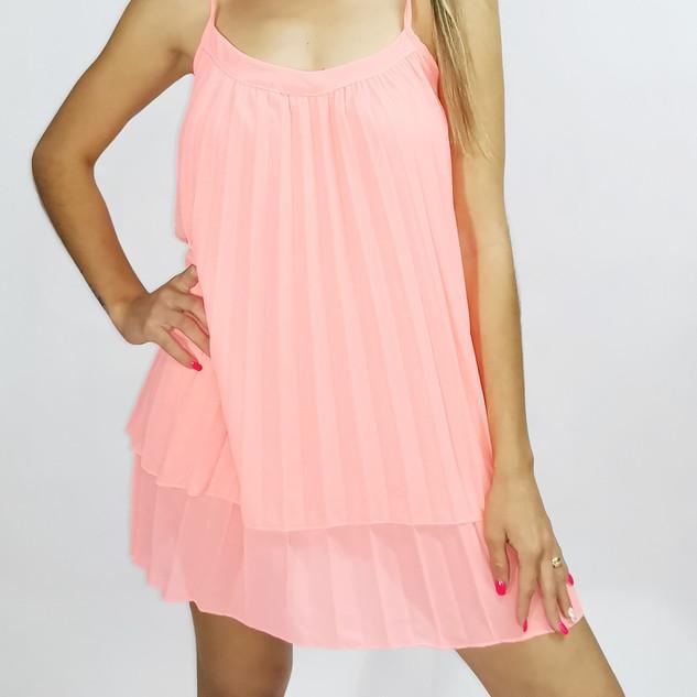 Vestido Alça Rosa