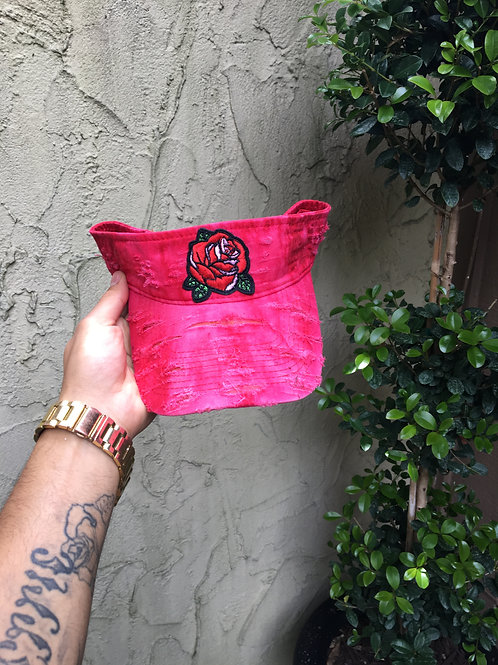 "La Rose Visor ""Bleached Red"""