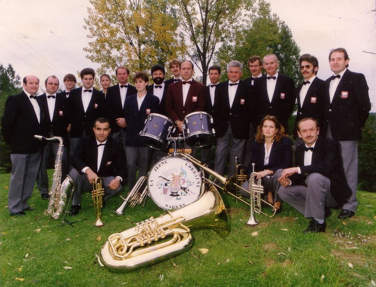 """Année 1986 - L'orchestre d'harmonie """"La Jeune Lorraine"""""""