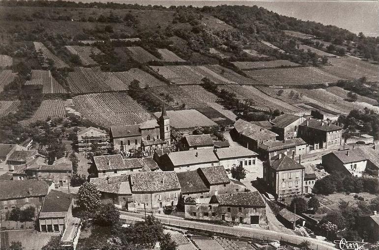 Année 1960 - Saulny vue du ciel