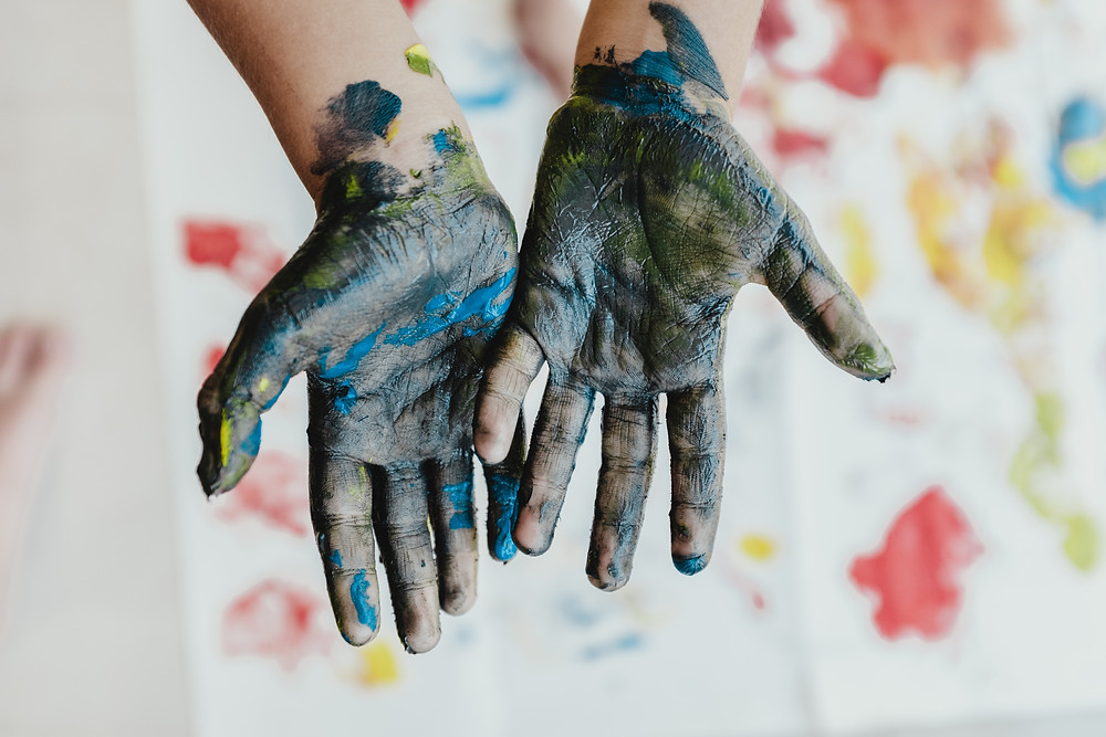 Hands, paint, painting, finger painting