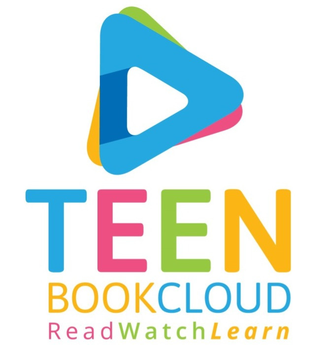 image of the teen book cloud logo with the words: read watch learn