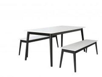 Eelis pöytä 145 + 2 penkkiä 117 cm