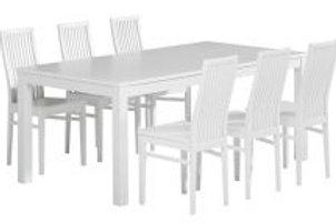 Julia pöytä 180 ja 6 Julia tuolia