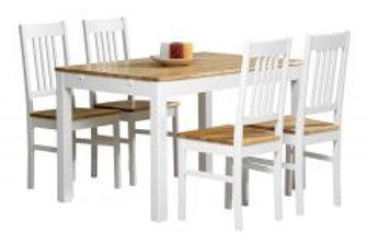 Emilia pöytä 120x80 ja 4 tuolia