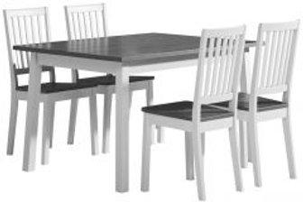 Sara pöytä 140x85 ja 4 pinnatuolia