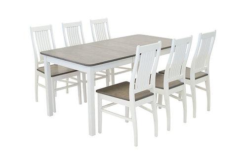 Sanna pöytä 85x125+35 + 4 tuolia