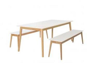 Eelis pöytä 190 + 2 penkkiä 162 cm