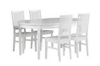 Ida ovaalipöytä 160 jatkopalalla 45 + 4 ida tuolia