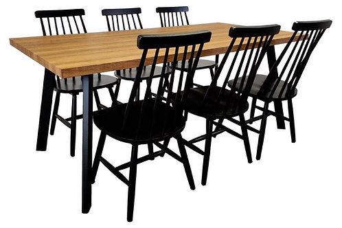 West pöytä + 6 Sophia pinnatuolia