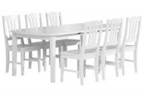 Viktoria jatkopöytä 150 + 6 tuolia