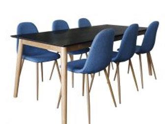 Eelis pöytä 190 + 6 Isla tuolia