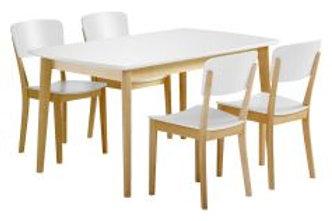 Olivia pöytä 140 + 4 tuolia