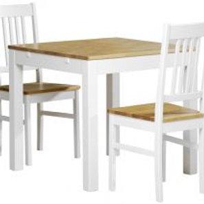 Emilia pöytä 80x80 ja 2 tuolia