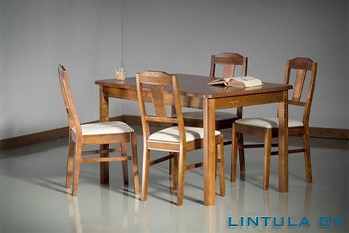Elina pöytä 80x125+42 + 4 tuolia