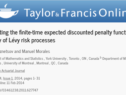 Computing the finite-time expected discounted penalty function for a family of Lévy risk processes