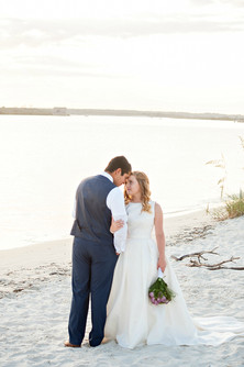 Beach Wedding Couple