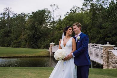 Wedding Couple on the Green