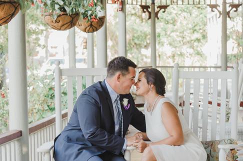 Cedar House Inn Wedding Couple