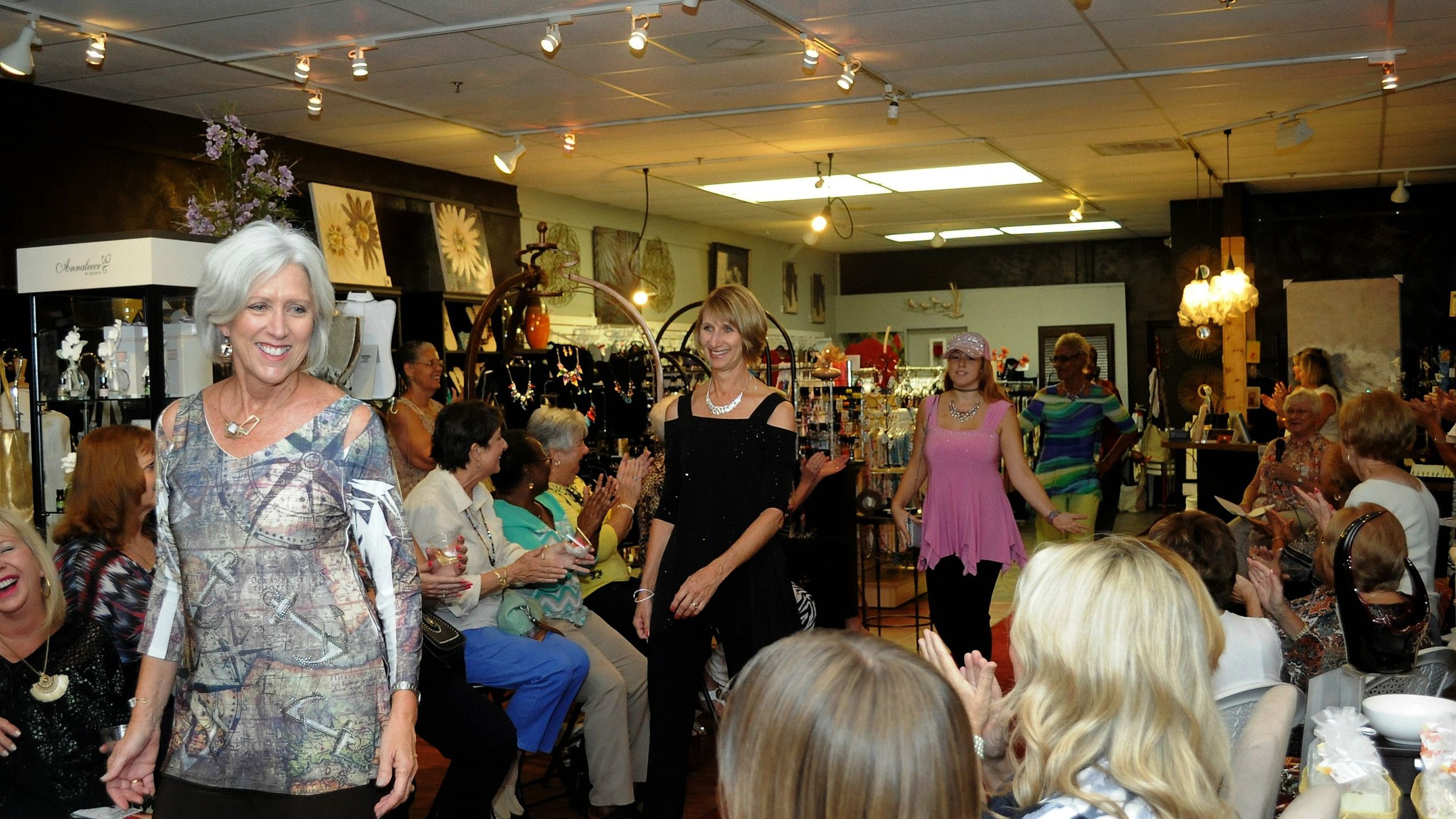 Fashion show hosted by The Sheltering Tree at Chez Jacqueline Gift Shop in Palm Coast