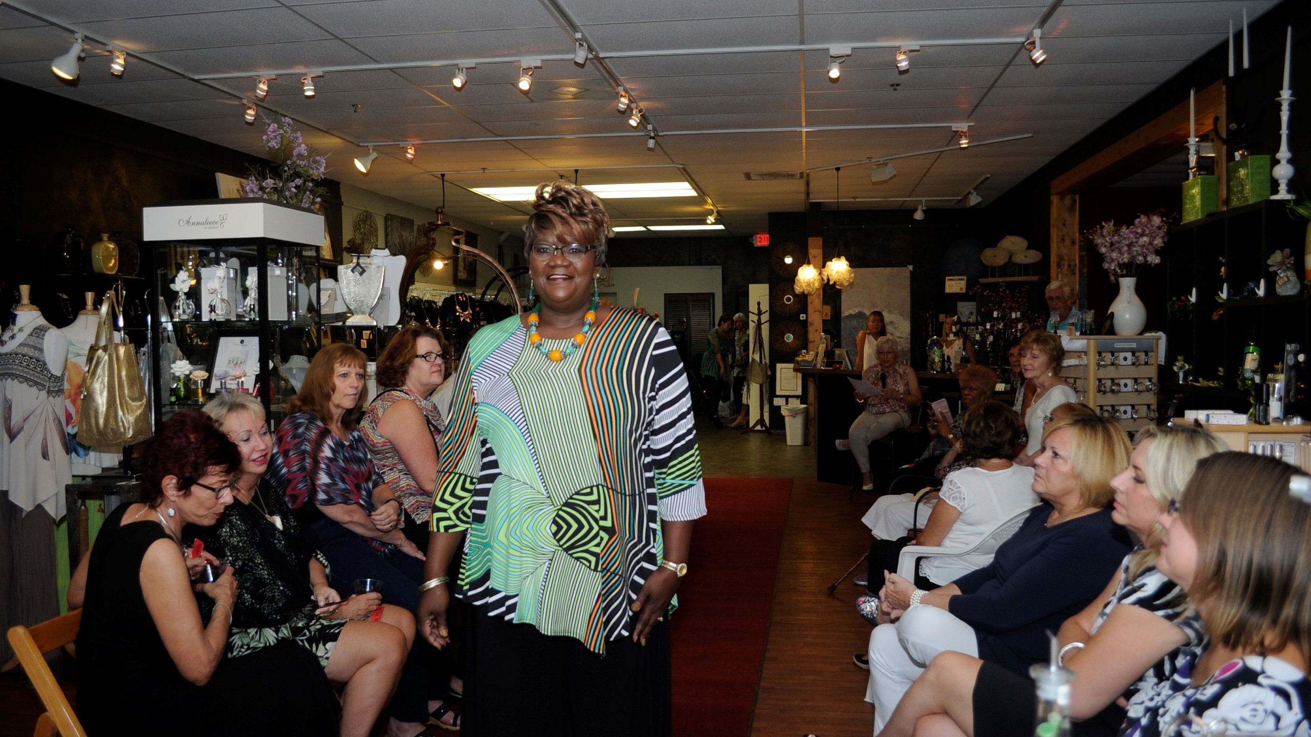 Working the red carpet at fashion event in Palm Coast