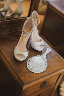 Detail Shot of Bride's Shoes