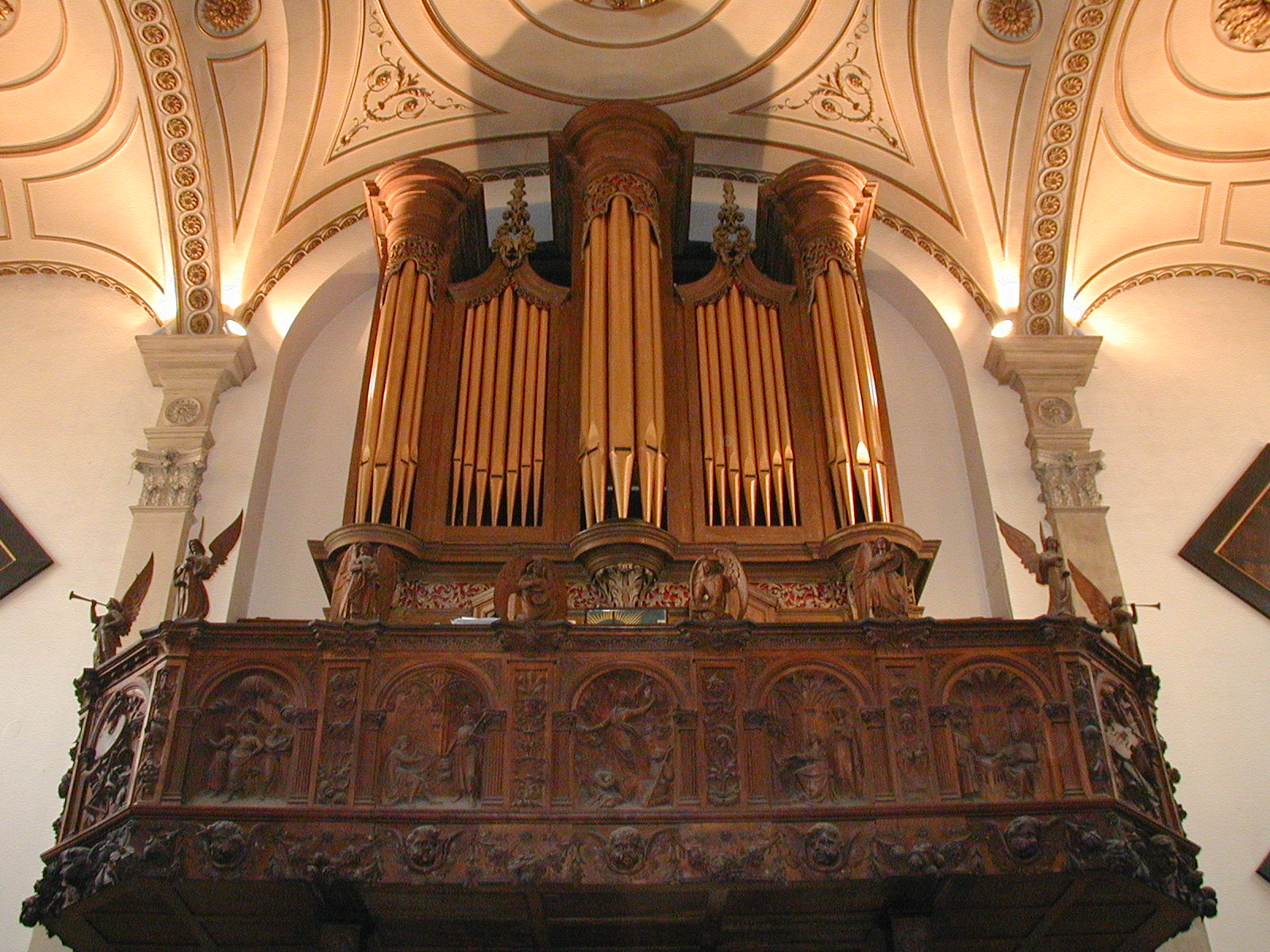 Organ loft - from below