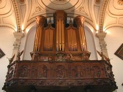 Organ loft - from below