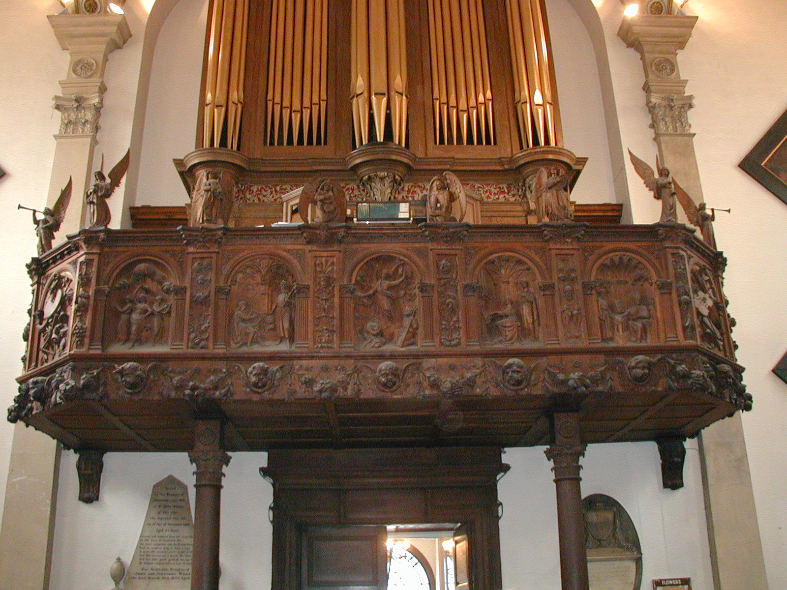 Organ loft - looking up