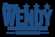 Rev Wendy for Congress logo in blue