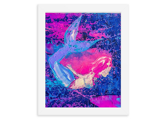 Abstract Mermaid Framed Poster Print