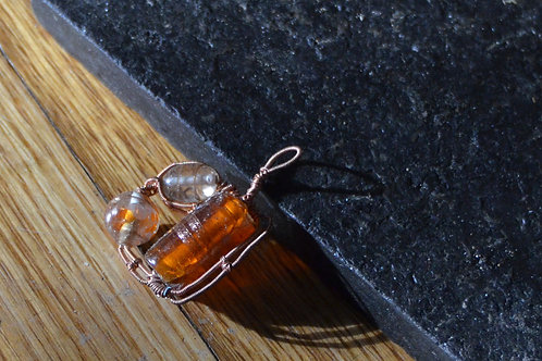 Three Amber Beads Pendant