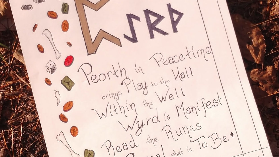 ᛈ - Peorth Rune Page
