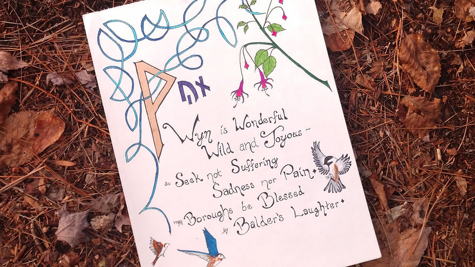 ᚹ - Wyn Rune Page