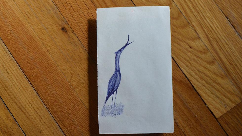 Marsh Bird in Blue