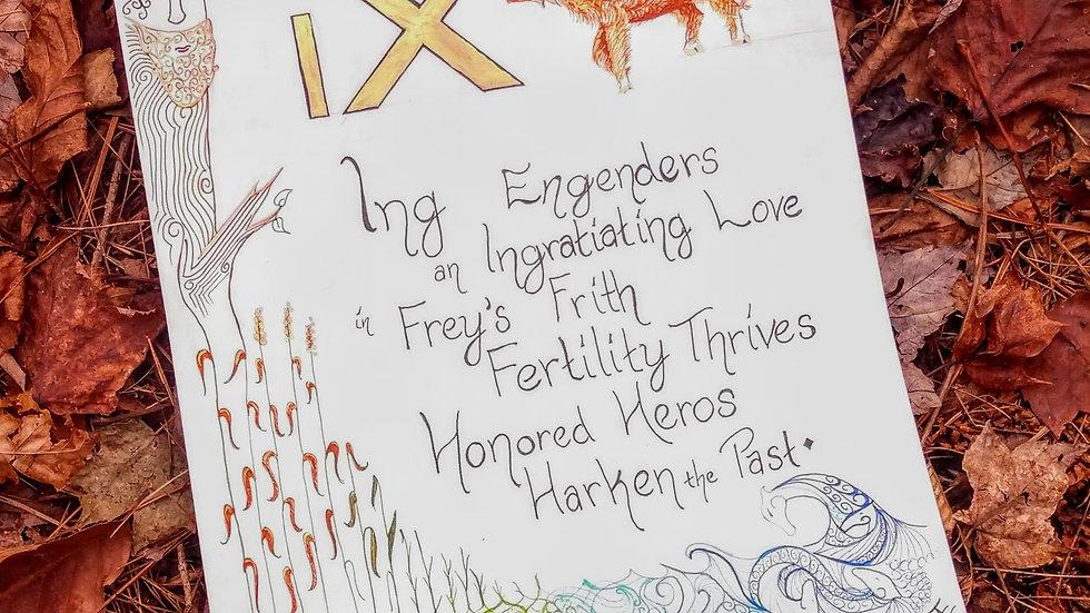 ᛝ - Ing Rune Page