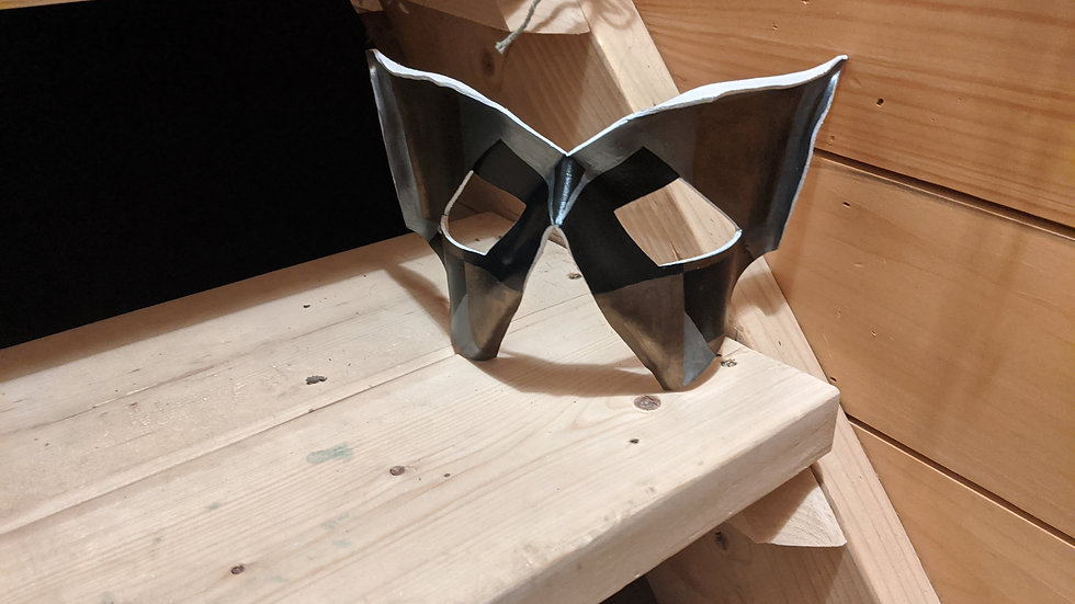 Harlequin Racoon Mask