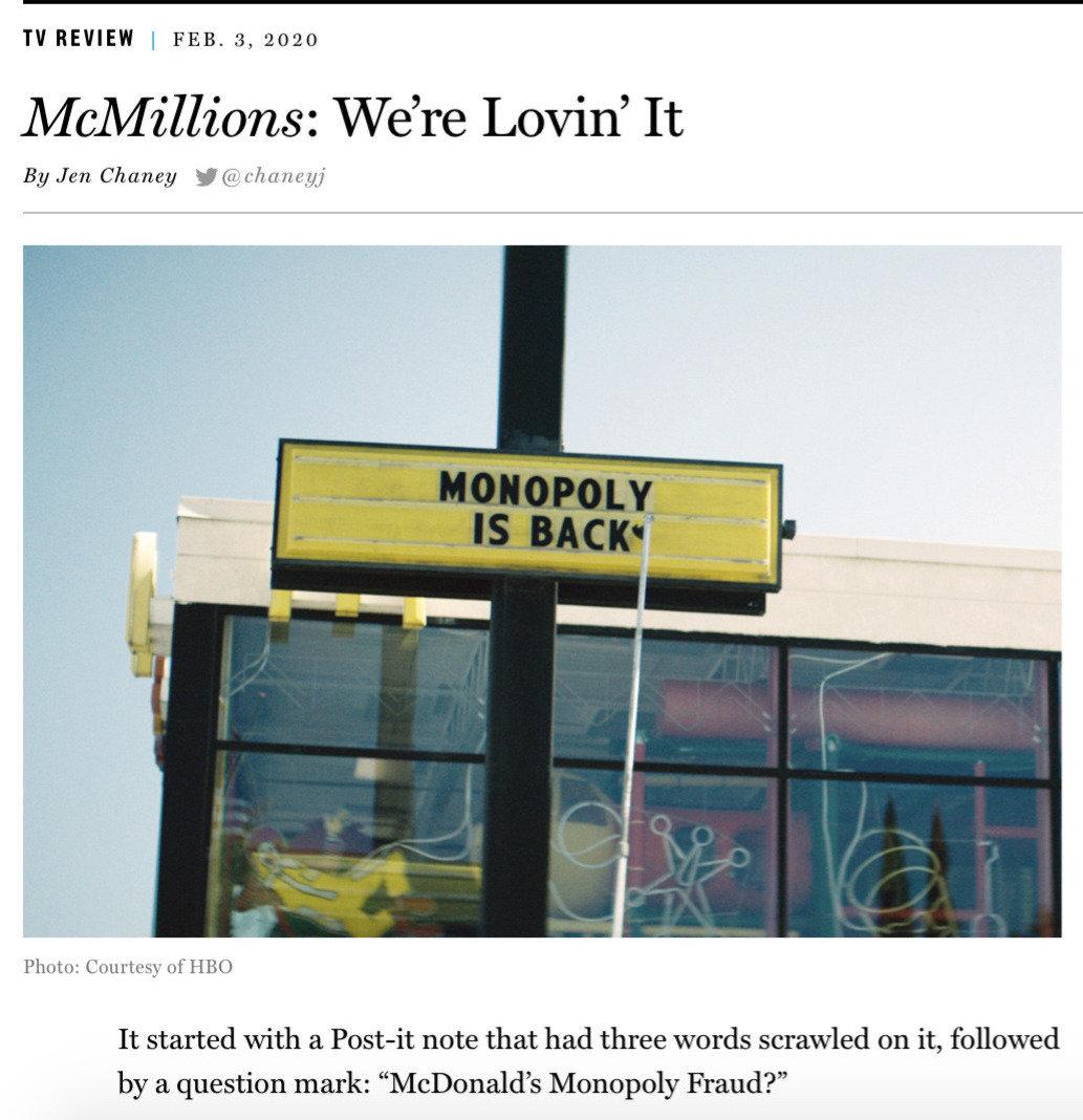 McMillions, McDonalds