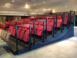 Small indoor tiered seating block