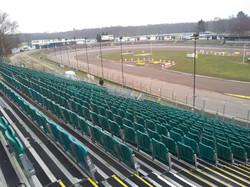 Permanent outdoor raceway stand