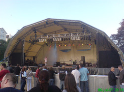 20m dome covered stage with lighting