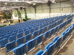 600 seat indoor tiered seating
